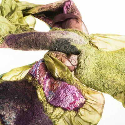 handmade felt scarf jacki sleator
