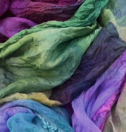 dyed fabrics microwave felt